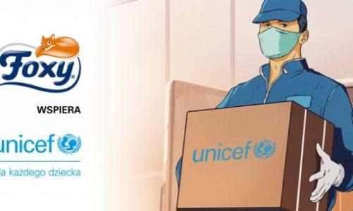 Foxy pomaga z UNICEF w walce z koronawirusem